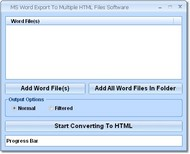 MS Word Export To Multiple HTML Files Software screenshot